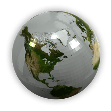 Advanced polyjet globe